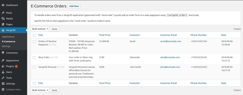 Verge3D WordPress plug-in - Soft8Soft