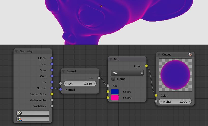 Verge3D Fresnel node