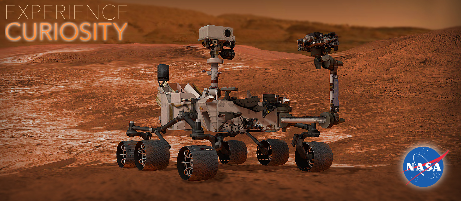 NASA's Experience Curiosity powered by Verge3D