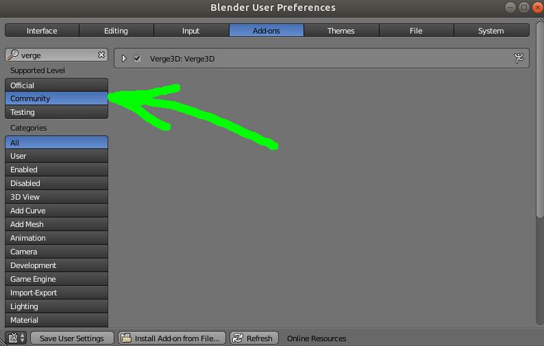 Install Verge problem in Blender - Soft8Soft