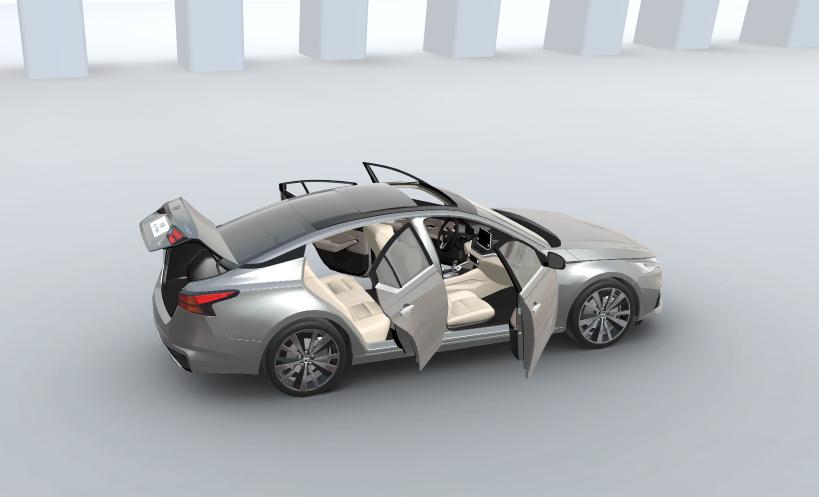 3D car configurator - doors open