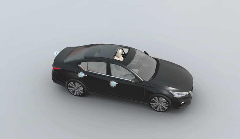 3D car configurator - view from above