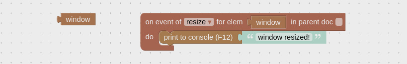 Window HTML puzzle used to handle resize window event.