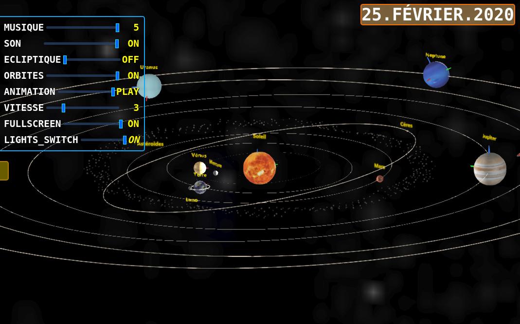 Solar system WebGL/Verge3D