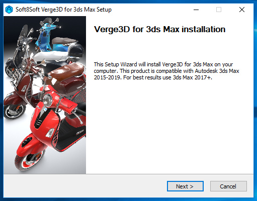 Verge3D for 3ds Max installer