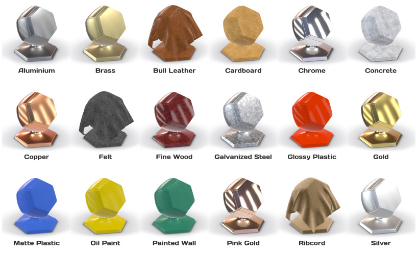 3ds Max Material Library Available - Soft8Soft
