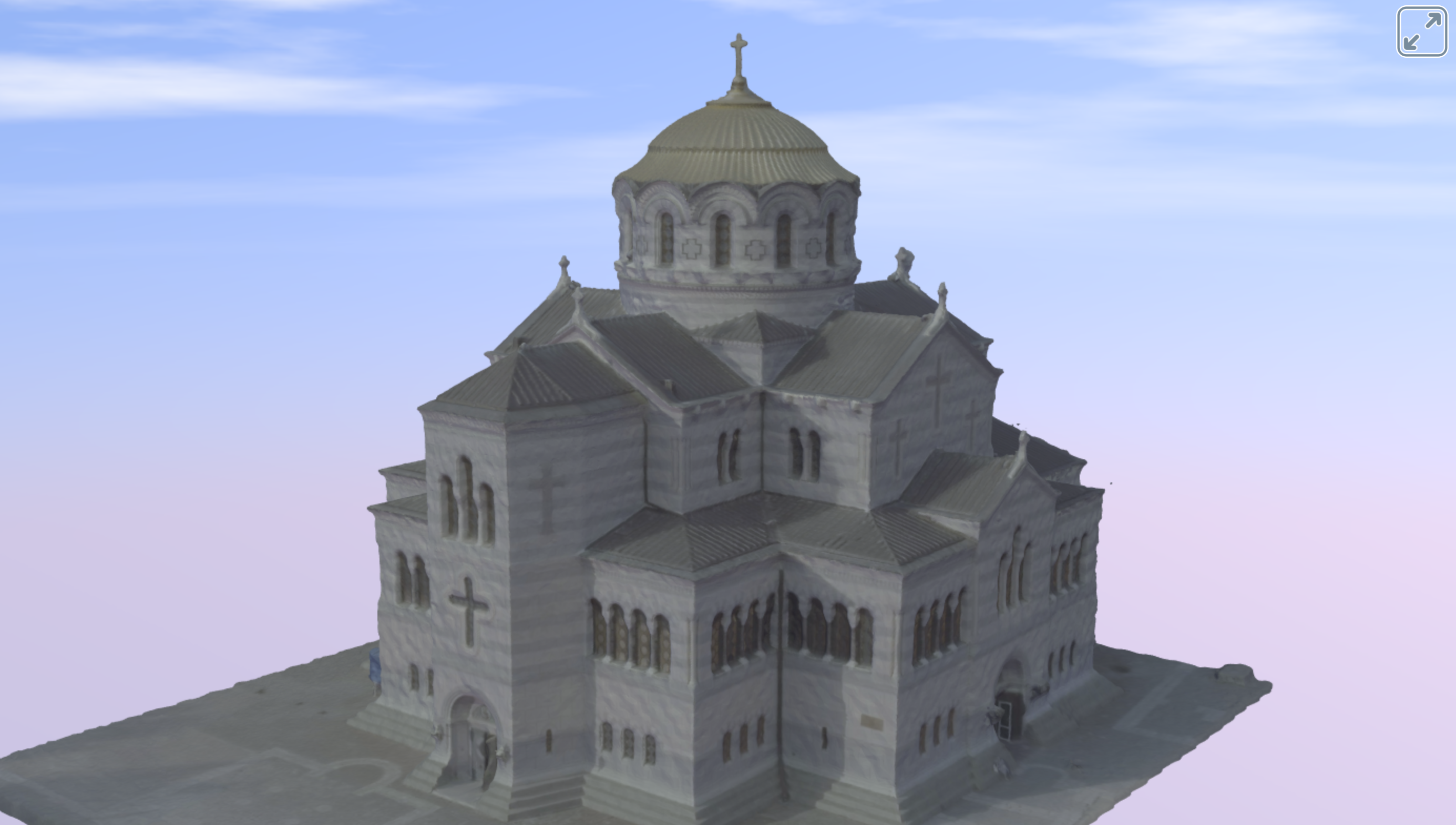 Saint Vladimir cathedral 3D