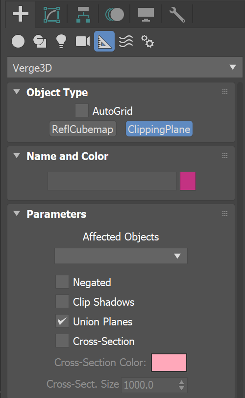 adding Clipping Planes in Verge3D for 3ds Max
