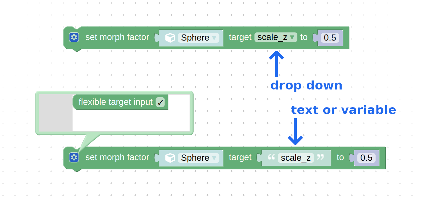 Puzzlesset morph targetandget morph targetcan now useTextinputs