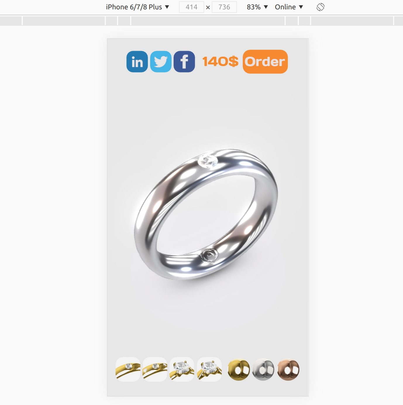 Ring demo showcases 3D user interfaces