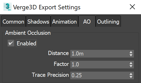 3ds max - ambient occlusion settings