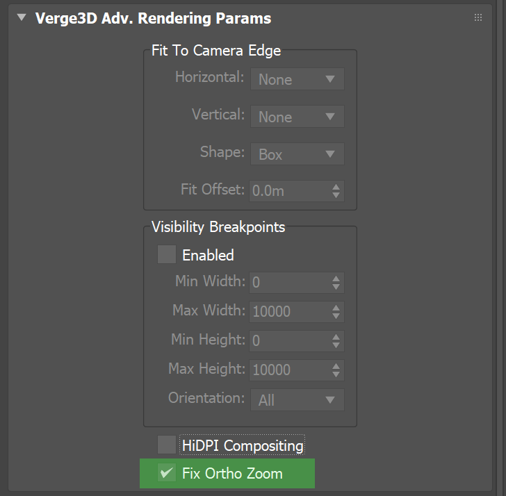 Fix Ortho Zoom setting in 3ds Max