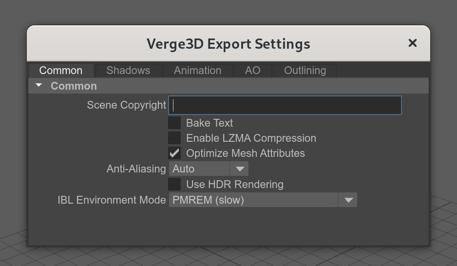 Maya - reorganized Verge3D export settings