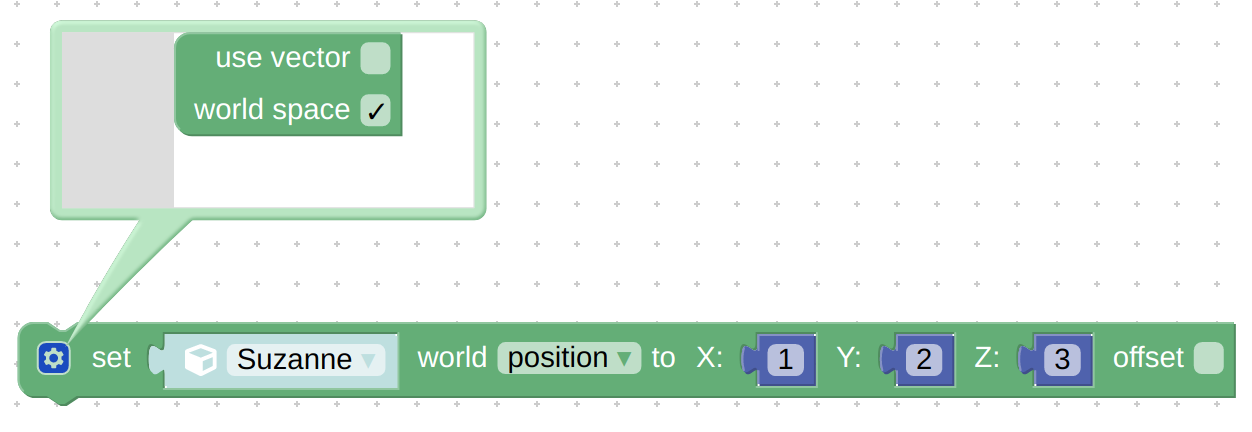puzzle set object transform - enabling world space option
