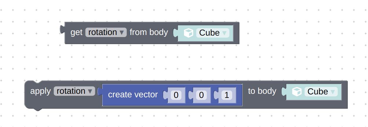 physics puzzles: get param and set param - with rotation option